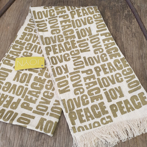 Peace Love and Joy Table Runner