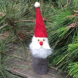 Grey Santa Shelf Decoration