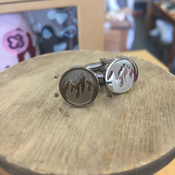 Faith To Move Mountains Cuff Links