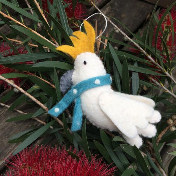 Cockatoo Christmas Decoration