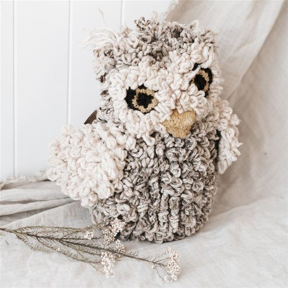 Hand Knitted Bundu Owl - Large - The Fair Trader