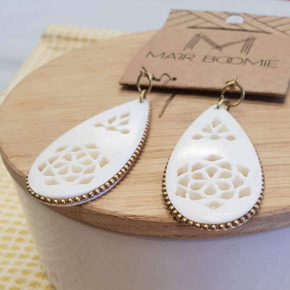Anika Teardrop Filigree Earrings - The Fair Trader