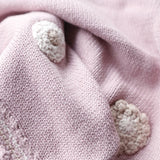 Organic Cotton Baby Blanket - Dusty Pink - The Fair Trader