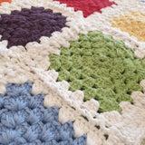 Organic Granny Square Baby Blanket - Bright Rainbow - The Fair Trader