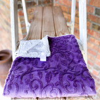 RTS Embossed Purple Paisley Luxe Loveys
