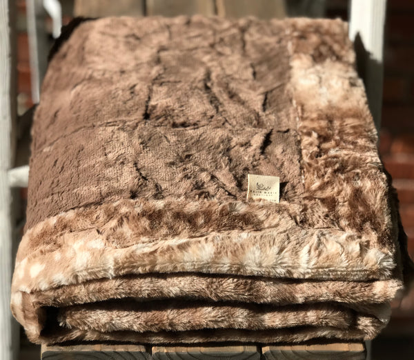 Cocoa & Fawn Faux Fur Double Luxe Blanket