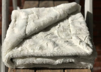 Easy Order Bull's Eye Graphite & Natural Luxe Snuggle Blanket
