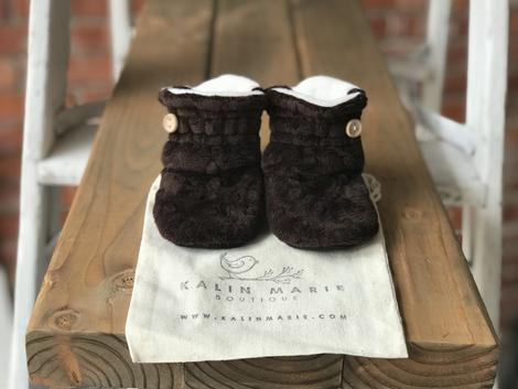 Toddler - Finn Minky Booties