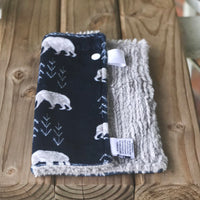 RTS Bearfoot Navy Luxe Snuggle Lovey