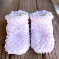 "RTS Custom Style Booties 6-12 months - 5"" Sole"