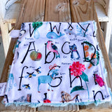 RTS Spoonflower Animal Alphabet Luxe Snuggle Lovey