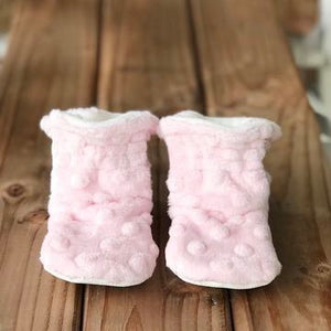 "RTS Classic Style Booties 0-6 Months - 4.5"" Sole"