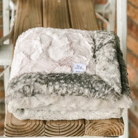 Rosewater Hide & Metal Fawn Double Luxe Blanket