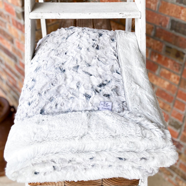 Easy Order Snowy Owl Alloy & Silver Frost Double Luxe Blanket