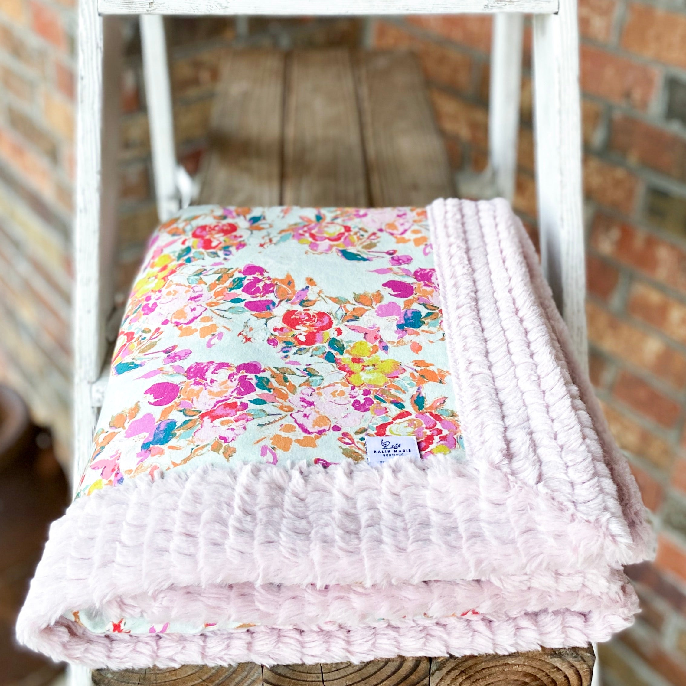 Easy Order Floral Poem Cotton Knit Luxe Blanket