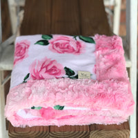 Easy Order La Vie En Rose Pink Luxe Snuggle Blanket (3 Backings)