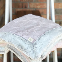 Easy Order Rosewater Hide & Silver Frost Double Luxe Blanket