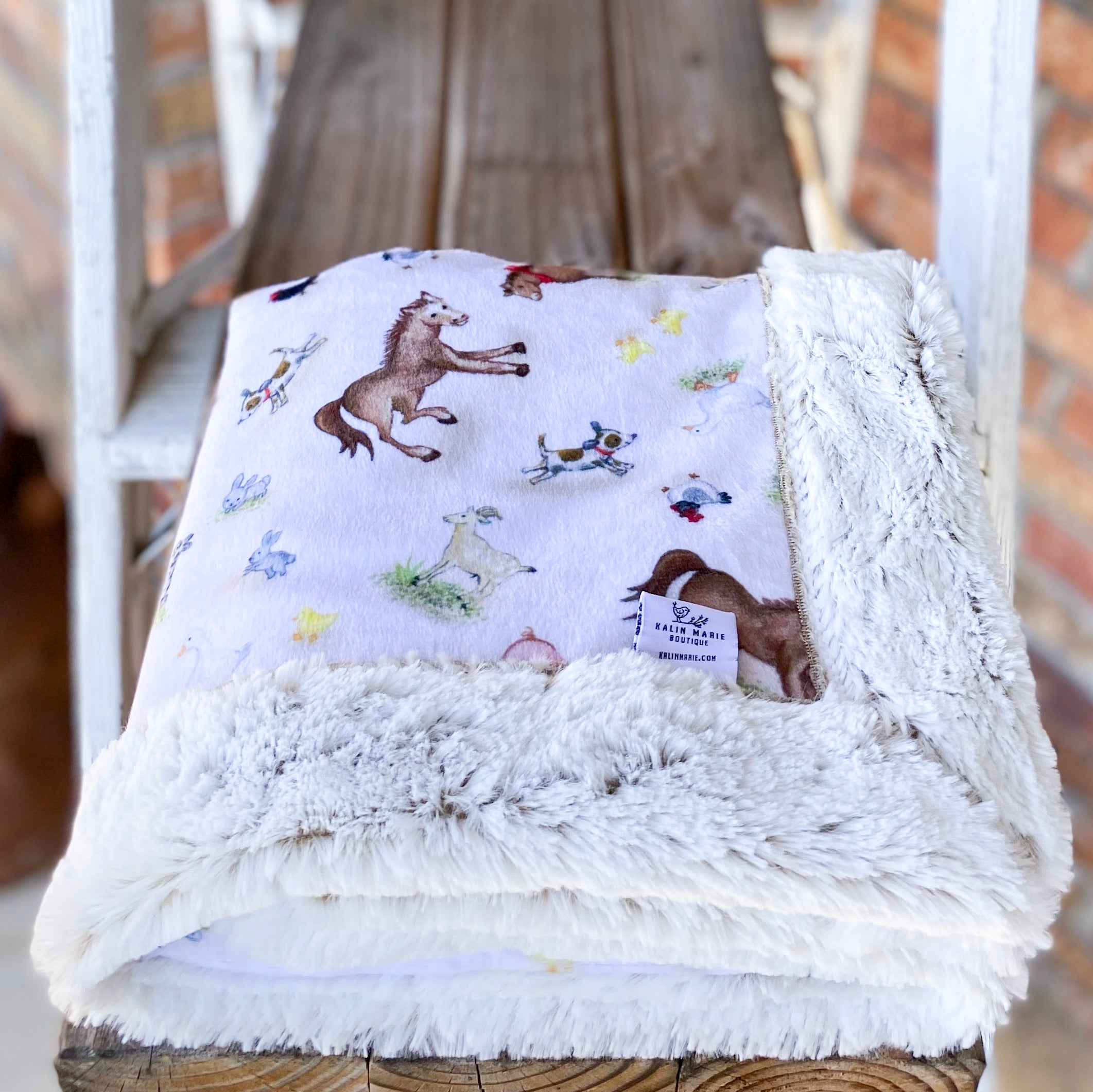 RTS Funny Farm & Sand Frost Luxe Snuggle Blankets