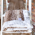 RTS Fawn Fur & Brown Frosted Hide Luxe Blanket