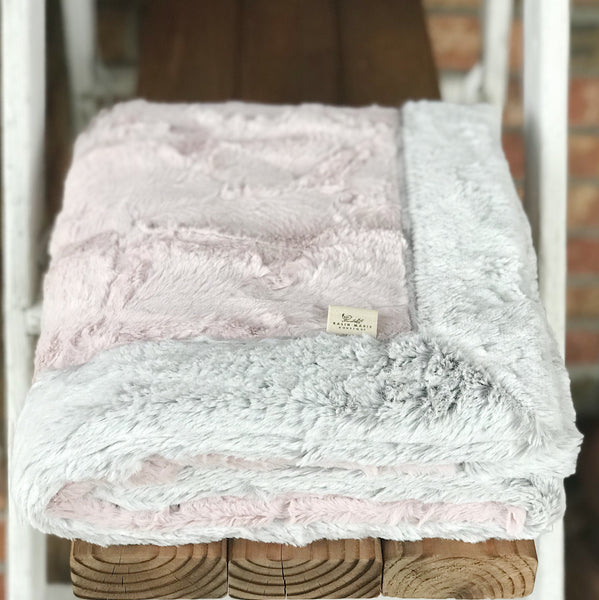 Rosewater & Silver Frost Double Luxe Blanket