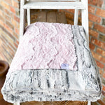 RTS Ice Pink Glacier & Silver Fox Luxe Blanket