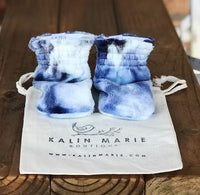 Women's / Youth Indigo Minky Booties