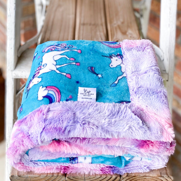 Easy Order Rainbow Magic Luxe Snuggle Blanket