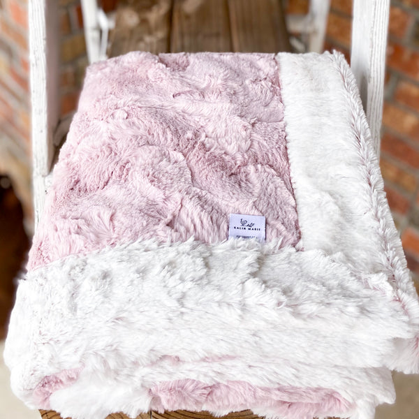 RTS Rosewater Hide & Rosewater Frost Luxe Blanket