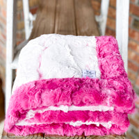 Easy Order Carnation Frosted Hide & Magenta Galaxy Double Luxe Blanket