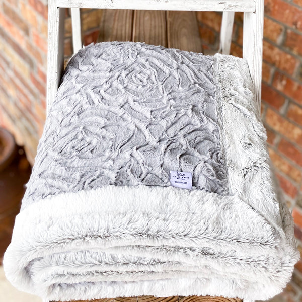 RTS Silver Demi Rose & Silver Frost Luxe Blanket