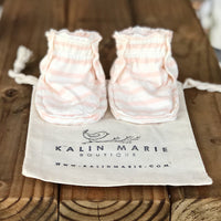 Olivia Cotton Knit Baby Booties