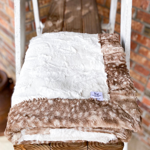 RTS Natural Hide & Fawn Fur Luxe Blanket