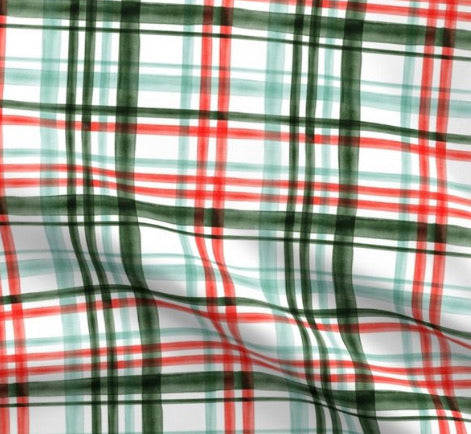 Limited Edition Spoonflower Christmas Plaid Minky Luxe Blanket Custom Order