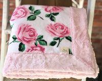 La Vie En Rose Pink Luxe Snuggle Blanket (3 Backings)