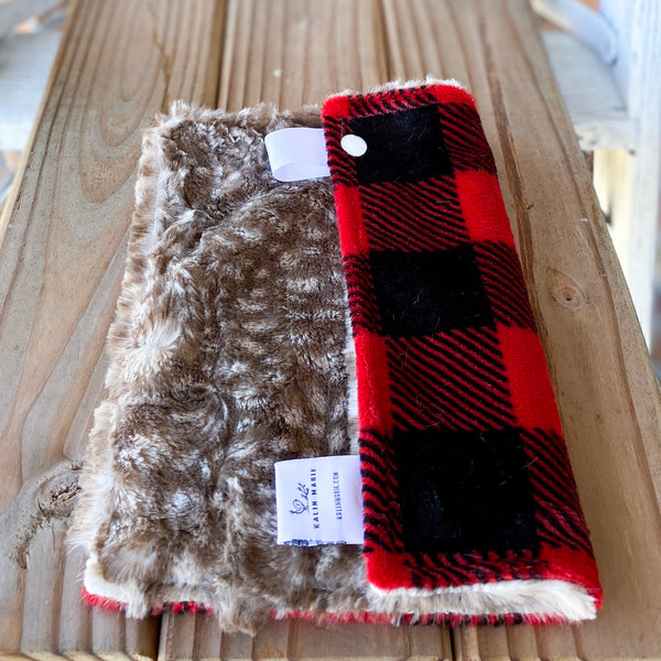 RTS Buffalo Plaid Scarlet & Fawn Loveys