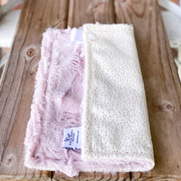 RTS Ivory Sparkle & Rosewater Hide Luxe Snuggle Loveys
