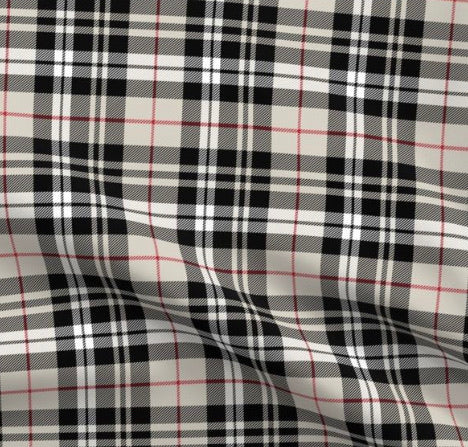 Limited Edition Spoonflower Tartan Plaid Minky Luxe Blanket Custom Order