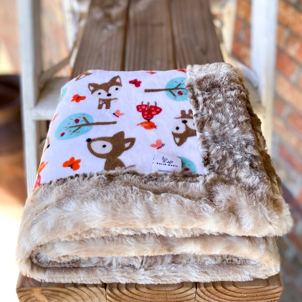 RTS Oh Deer Snow Snuggle Blankets