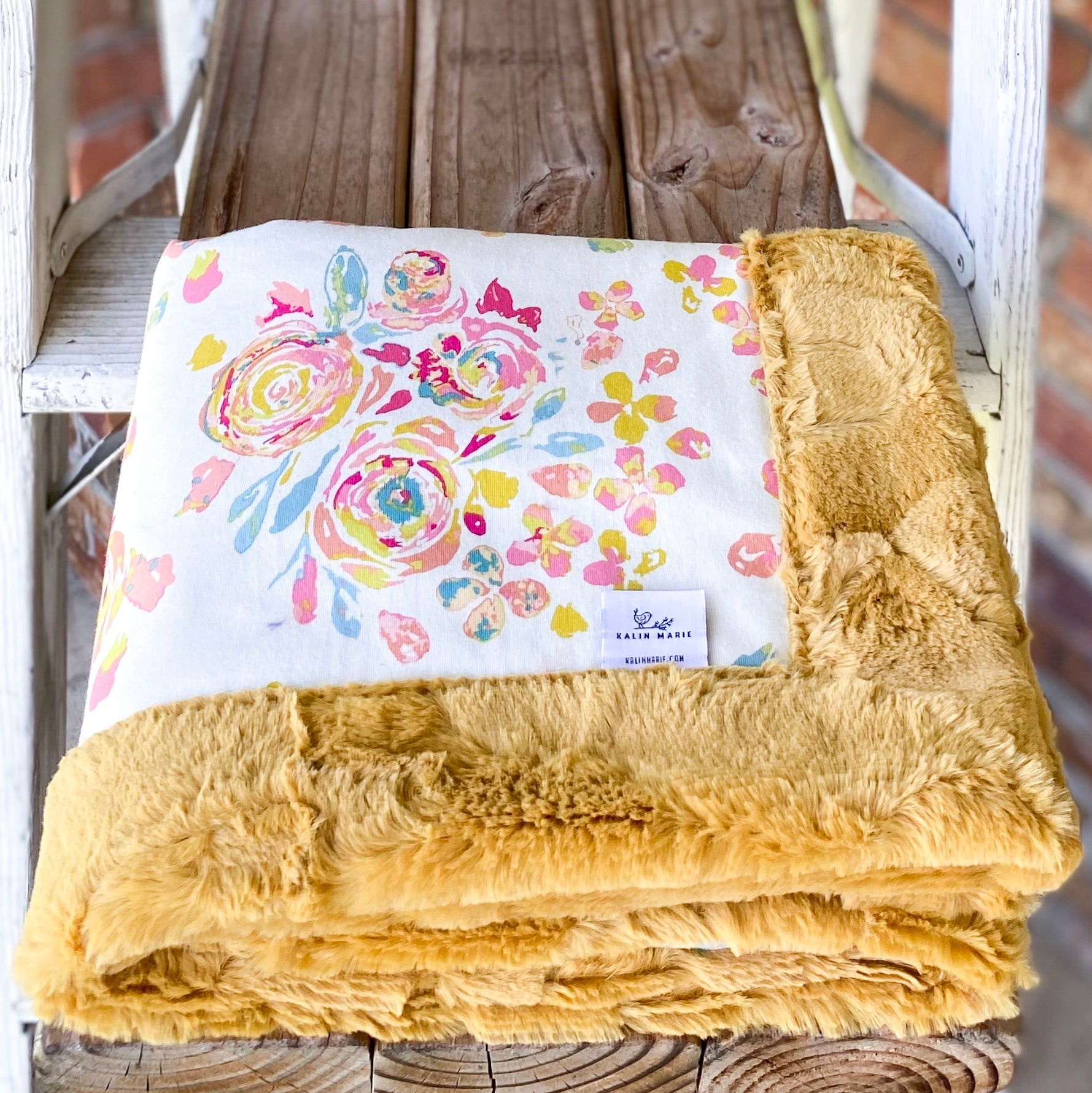 Easy Order Swifting Flora Cotton Knit Luxe Blanket
