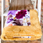 RTS Autumn Leaves Plum Luxe Snuggle Blankets