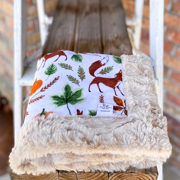 RTS Fall Fox Luxe Blanket