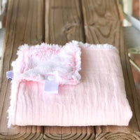 RTS Solid Baby Pink Cotton Cuddle Lovey