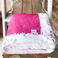 RTS Fuschia Sparkle & Magenta Frost Double Luxe Blanket