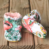 Reversible Kalin Marie Cotton Knit Booties