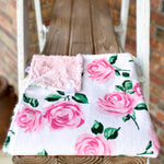 La Vie En Rose Pink & Blush Hide Snuggle Lovey