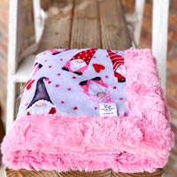 Easy Order Valentines Gnomes Luxe Snuggle Blanket