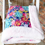 Easy Order Boho Rose Cotton Knit Luxe Blanket