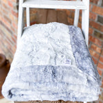 Easy Order Alloy Frosted Hide & Silver Fawn Double Luxe Blanket