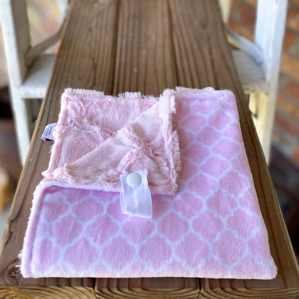 RTS Blush Moroccan Tile Luxe Snuggle Lovey