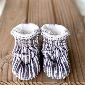 "RTS Custom Style Booties 0-6 months - 4.5"" Sole"
